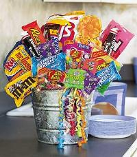 Junk Food Basket by The Foliage Shoppe