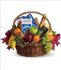 Fruits and Sweets Christmas Basket by The Foliage Shoppe