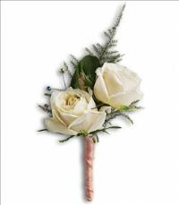 White Tie Boutonniere by The Foliage Shoppe
