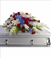 Distinguished Service Casket Spray by The Foliage Shoppe
