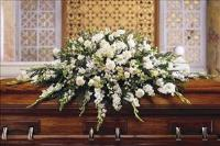 Deluxe Pure White Casket Spray by The Foliage Shoppe