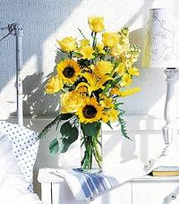 Yellow Roses & Sunflowers by The Foliage Shoppe
