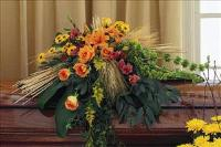 Fall Casket Spray by The Foliage Shoppe