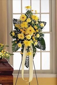 Yellow Easel Spray by The Foliage Shoppe