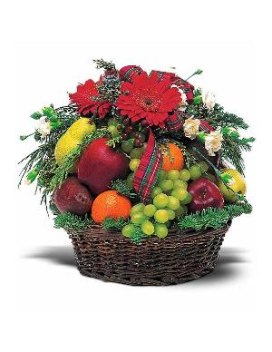 Fruit & Flowers Basket by The Foliage Shoppe